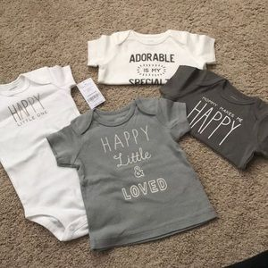 New carters unisex baby shirts and onesie 6 months
